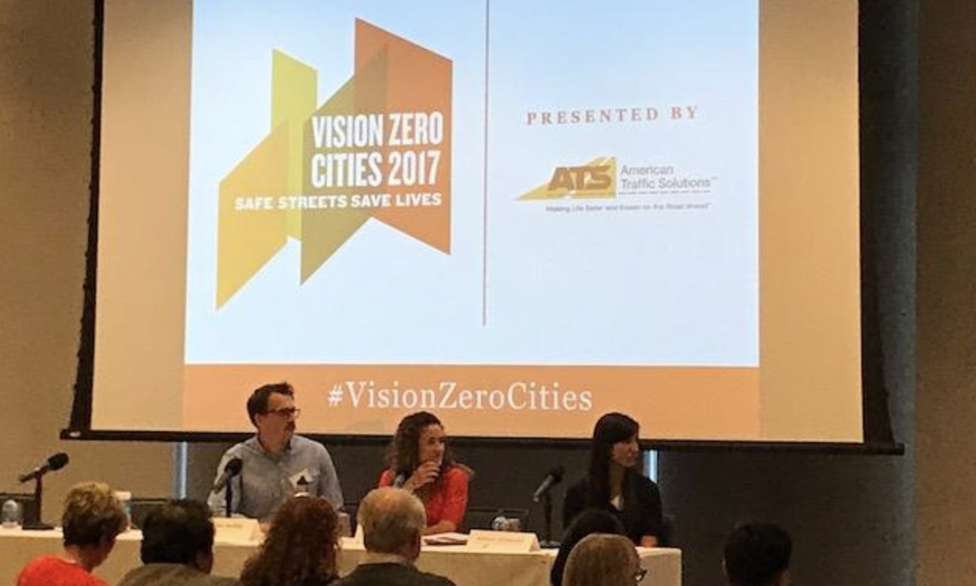 Image of panel from 2017 Vision Zero Cities conference